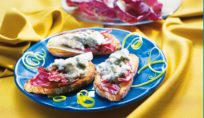 Crostini-radicchio-Gorgonzola